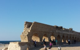Aqua Duct at Caesarea brought water from Mt. Carmel