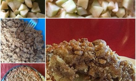 Apple Crumble Cake with Cider Glaze