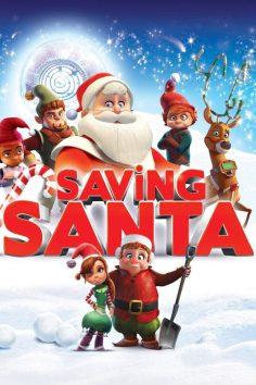 "Poster for the movie ""Saving Santa"""