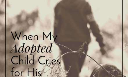 When My Adopted Child Cries for His Birth Mom