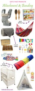Gifts that Promote Attachment and Bonding #baby #child #attachment #sensory #fostercare