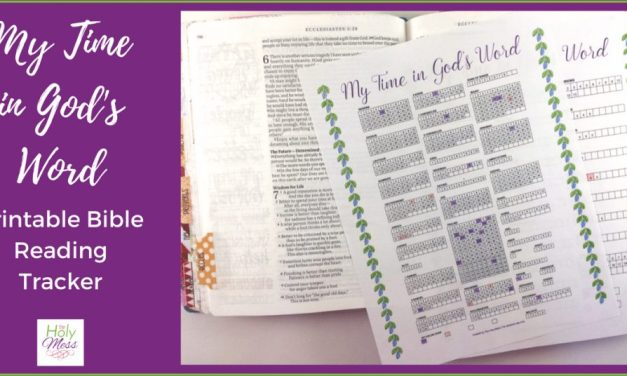 My Time in God's Word Printable Bible Reading Tracker
