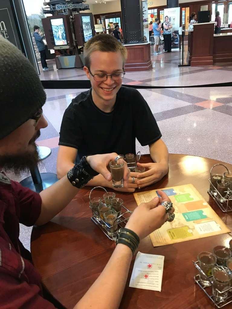 Chocolate tasting at Hershey Story
