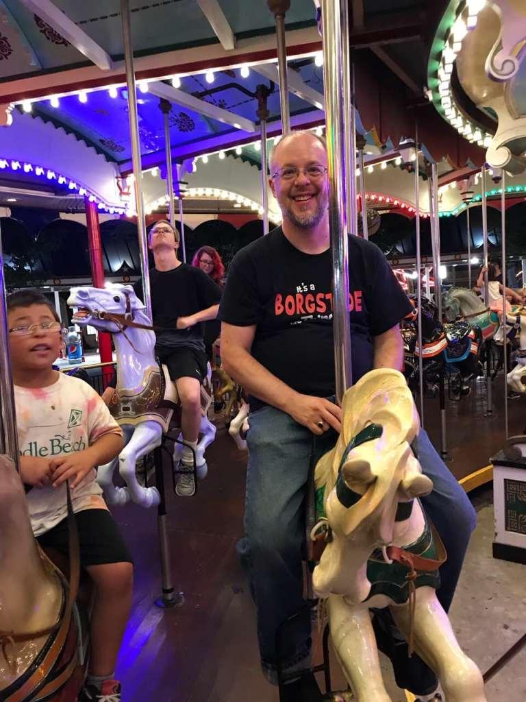 Hershey Park on the carousel