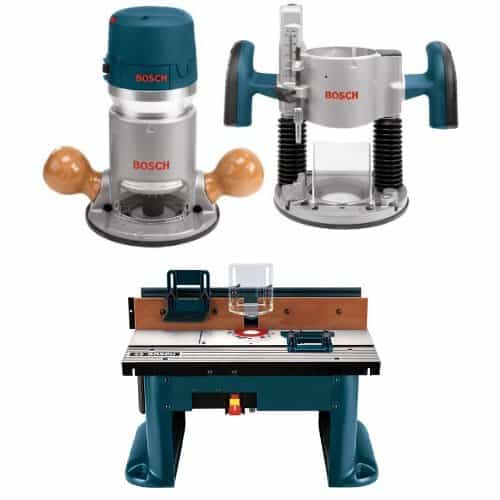 Bosch 1617EVSPK 12 Amp Horsepower Plunge and Fixed Base Variable Speed Router with Benchtop Router Table