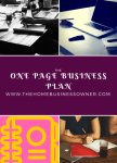 You don't need a 100 page Business plan to start one
