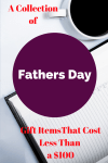 A Collection of Father's day Gift items that will cost less than $100.