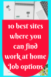 10 best sites where you can find work at home Job options.