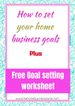 How to set goals for your home business in 2019