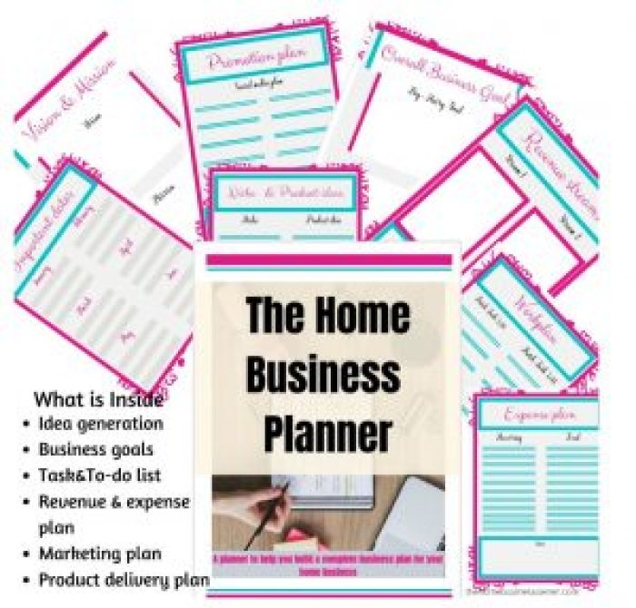 Home Business Planner Pages