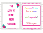 5 things a stay at home mom planner can do for you