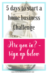 How to start a small business from home in 5 days.