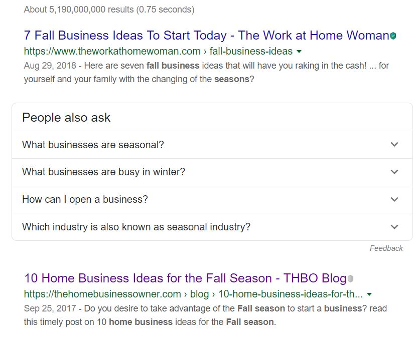 10 Business Ideas for Fall season
