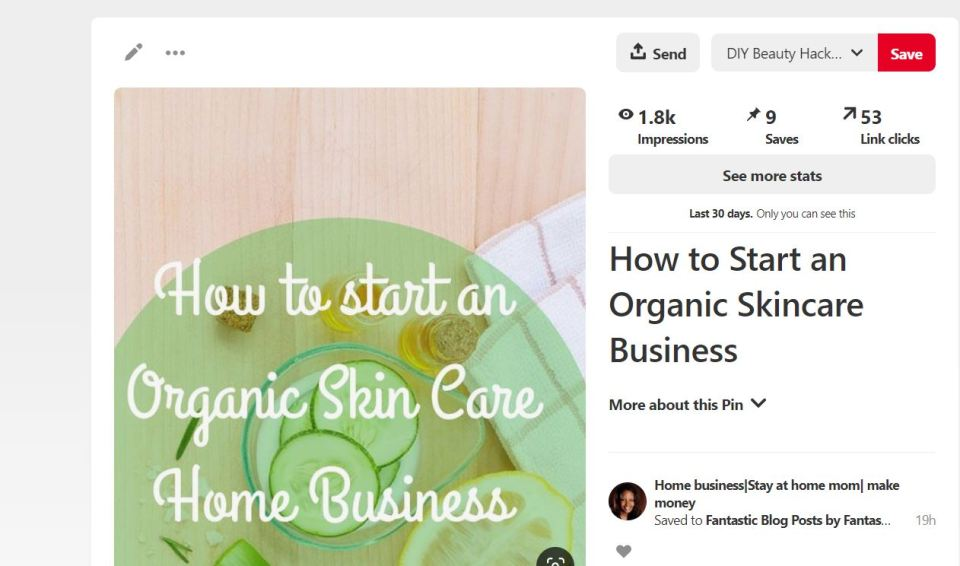 Organic skincare Business