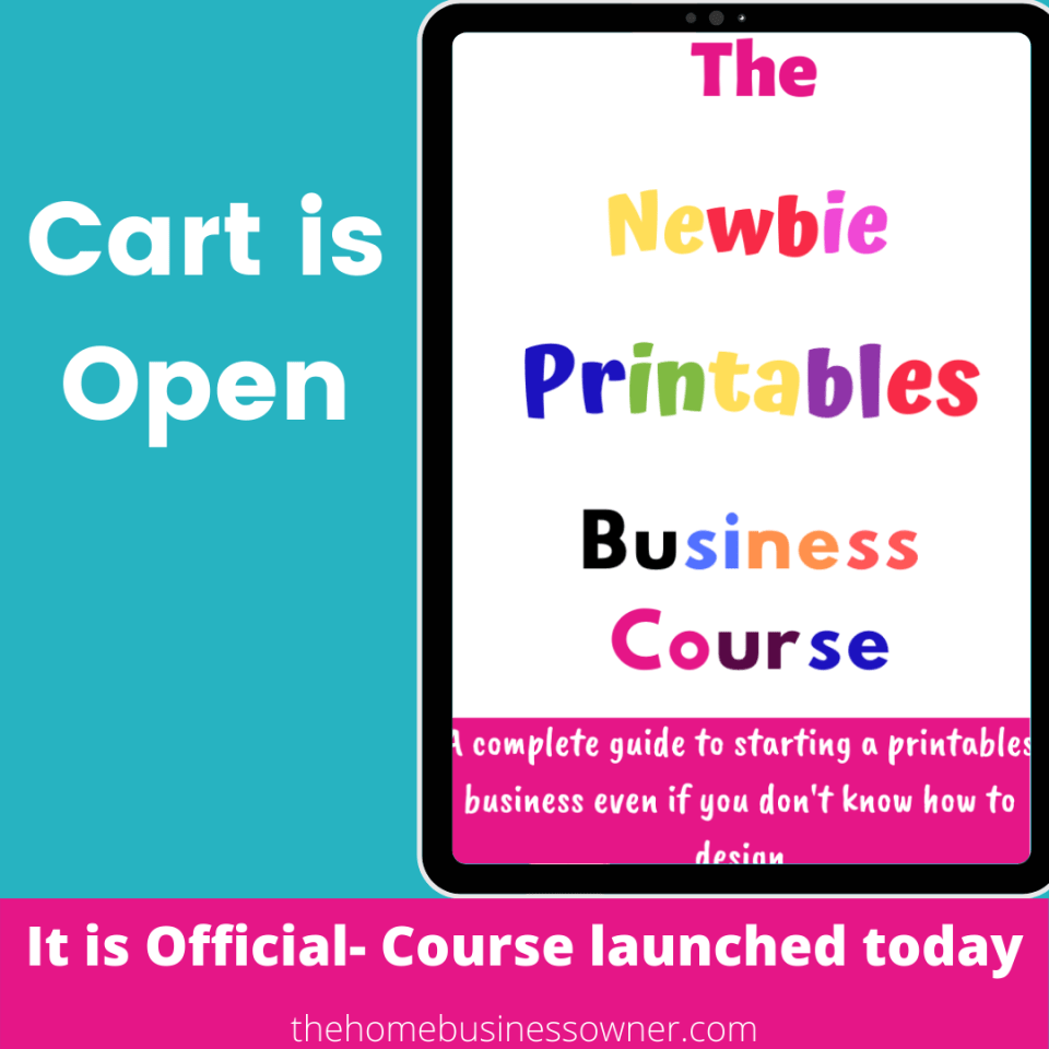 Newbie Printables Business Course  Digital products business