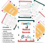 Family medical records binder/planner