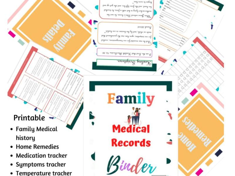 Medical records binder