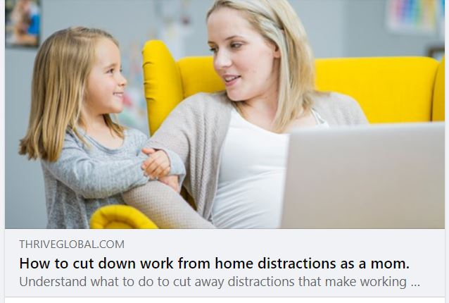 How to cut down work at home distractions
