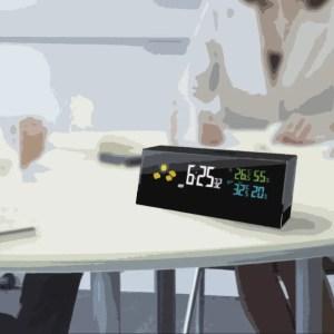 black smart alarm on the table