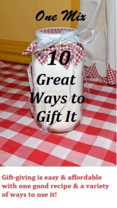 10 Ways to Gift Mason Jar Baking Mix