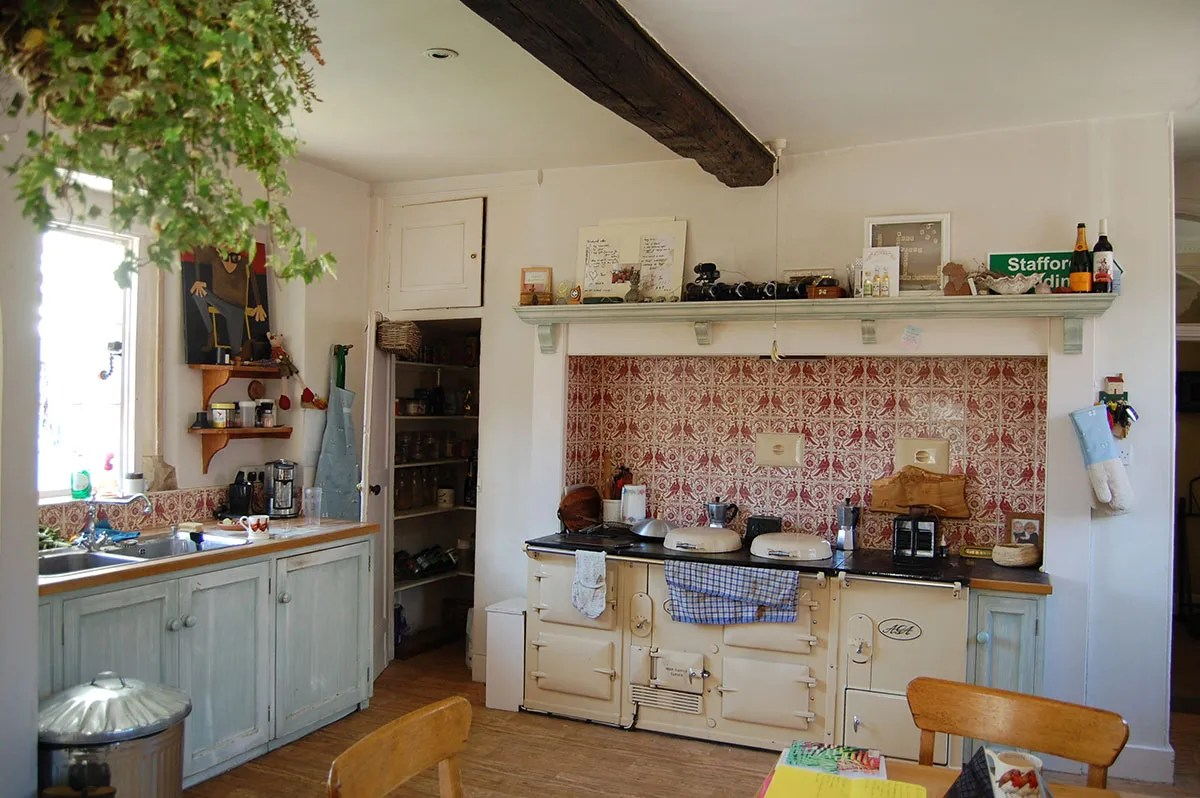 Adventurers Laura Bingham and Ed Stafford's kitchen at their home in Hallaton, Leicestershire