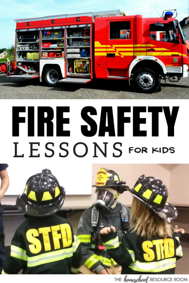 Fire Safety Lessons for Kids. Books and activities to teach children how to be safe in case of a fire.