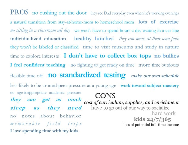 Pros and cons of homeschool