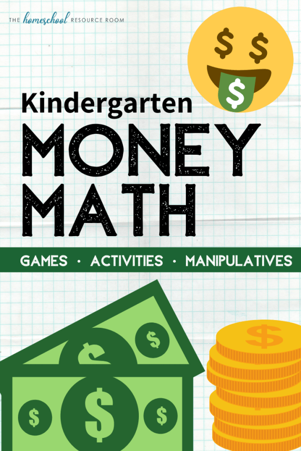 Kindergarten money math! A hands-on approach using games, manipulatives, videos, and books. Click through for fantastic ideas for your money lesson plans. #kindergarten #money #teachingmoney #handson #math