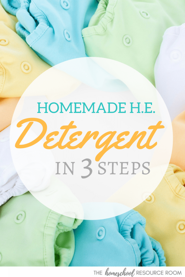 SUPER EASY homemade HE laundry detergent in 3 steps! You can do this.