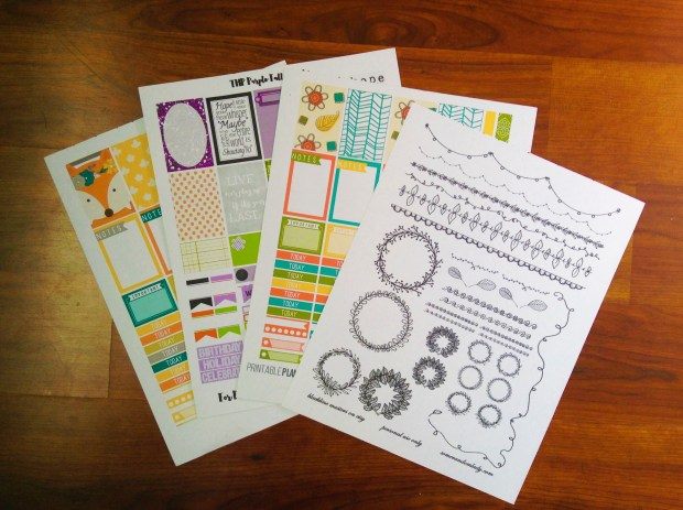 Hand Drawn Stickers, Colorful Fall Stickers