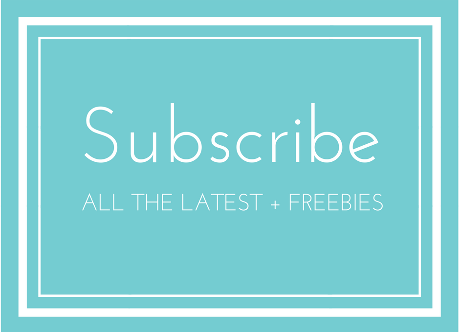 Subscribe to our email list for all the latest + freebies!
