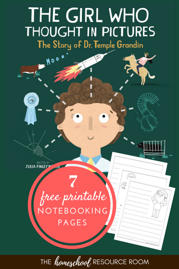 Temple Grandin Unit Study: Learn about this incredible woman in science, acceptance and understanding, and overcoming obstacles with shear determination and grit. Your child will love this Temple Grandin unit study based on the book, The Girl Who Thought in Pictures. +7 FREE Notebooking pages for you!