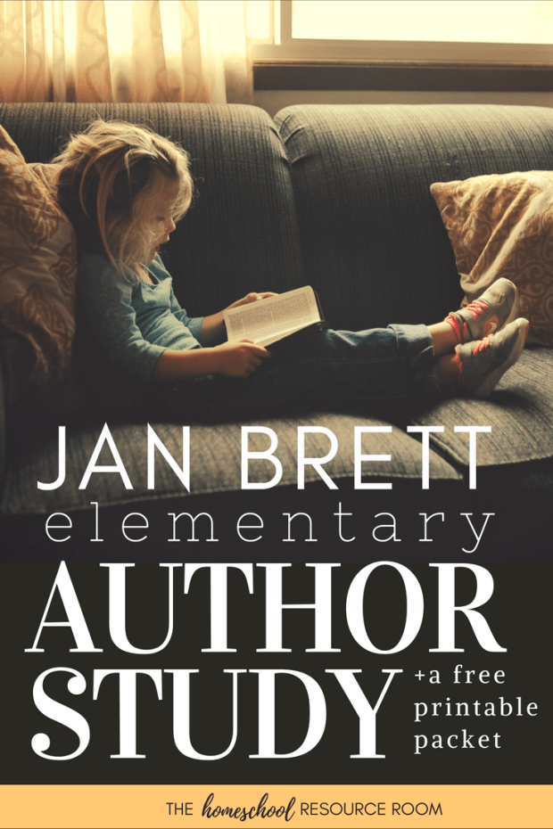 Jan Brett author study for elementary aged students. Books, activities, and links to resources for a full unit study based on the lovely work or author, Jan Brett.