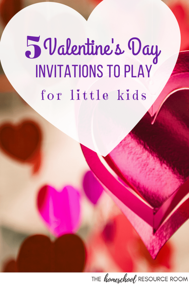 Valentine's Day Invitation to Play activities. Add these fun ideas to enrich your Valentine's Day lesson plans. Great fine motor practice and an engaging way to encourage independent play.
