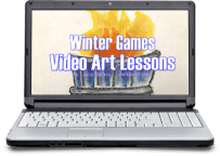 Learn about the winter olympics online with video art lessons.