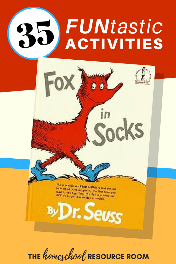 graphic regarding Fox in Socks Printable Template known as 35+ FUNtastic Fox within Socks Things to do for Little ones! The