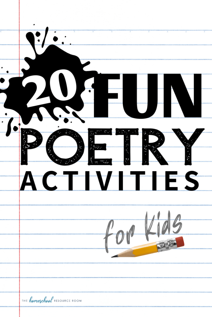 20 FUN poetry activities for kids of all ages! Great ideas for teaching poetry. Thoughtful and engaging activities to help kids understand poetry, play with words, and write their own poems! #poetry #languagearts #poetryforkids