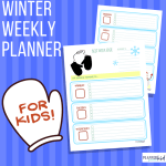 Winter Weekly Planner for Kids