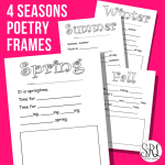 Seasonal Poetry Frames
