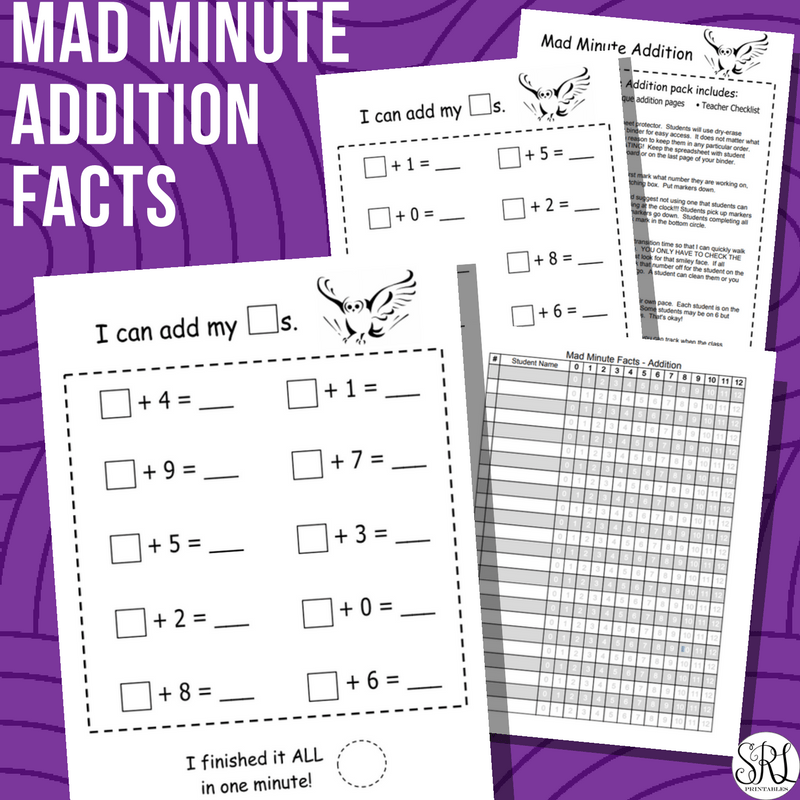 Mad Minute Addition Practice