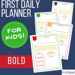 Kids first planner