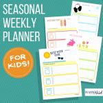 Seasonal Weekly Planner Bundle for Kids