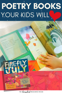Poetry books for kids, How to find poems kids like plus suggestions and activities for elementary aged students.