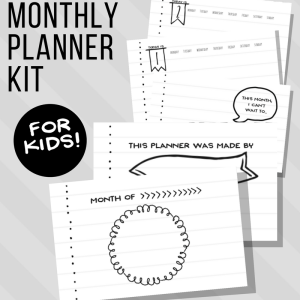 Daily / Monthly Bullet Journal for Kids