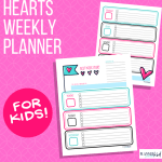 Hearts Weekly Planner for Kids
