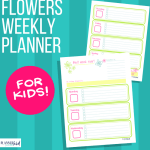 Flowers Weekly Planner for Kids