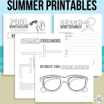 Summer printables and library reading challenge