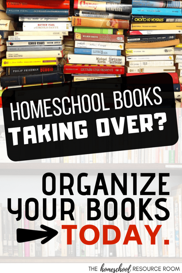 Are your child's homeschool books taking over the house? Check out a few easy tips and tricks from Surya about organizing your homeschool books.