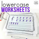 Lowercase letters worksheets