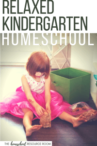 Kindergarten homeschool curriculum choices and resources for a relaxed and gentle introduction to academics. Recommendations include language arts, phonics, reading, online games, math, science, and writing for kindergartners.